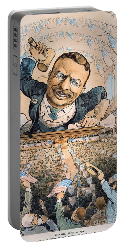 1904 Portable Battery Charger featuring the photograph Presidential Campaign, 1904 by Granger