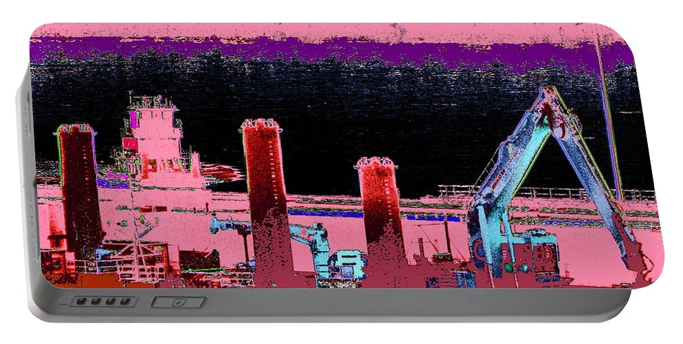 Abstract Portable Battery Charger featuring the photograph Pretty In Pink by Rachel Christine Nowicki