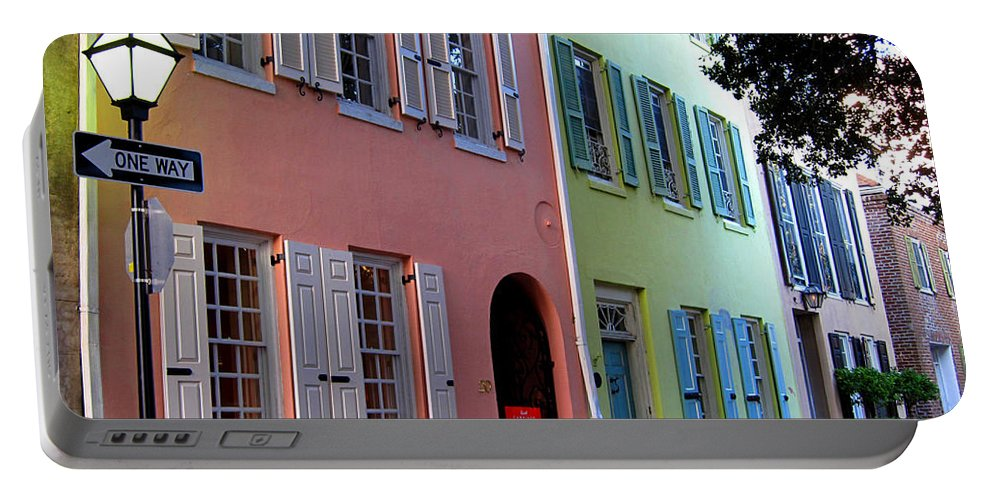 Photography Portable Battery Charger featuring the photograph Pretty Lane In Charleston by Susanne Van Hulst