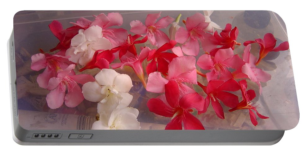 Pretty Portable Battery Charger featuring the photograph Pretty Little Flowers by Usha Shantharam