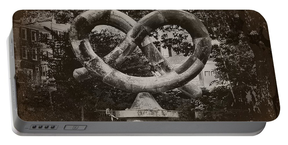 Philadelphia Portable Battery Charger featuring the photograph Pretzel Park - Manayunk by Bill Cannon