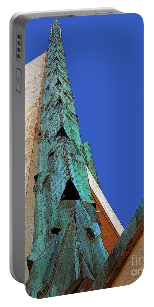 Sold Portable Battery Charger featuring the photograph Price Tower One by Susan Vineyard