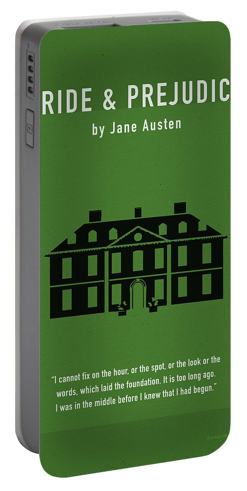 Pride And Prejudice Portable Battery Charger featuring the mixed media Pride And Prejudice Greatest Books Ever Series 016 by Design Turnpike