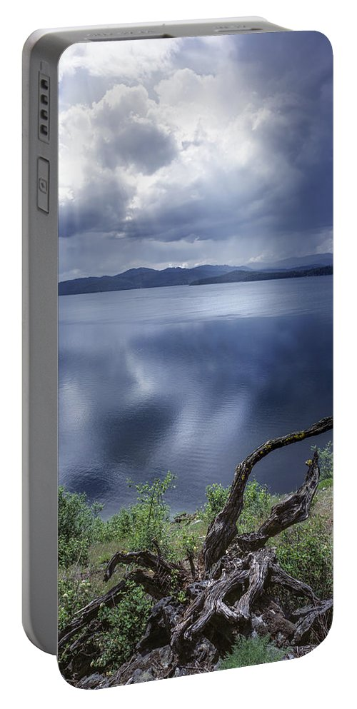 Idaho Scenics Portable Battery Charger featuring the photograph Priest Lake Light by Leland D Howard