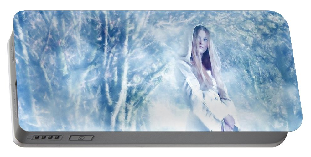 Woodland Portable Battery Charger featuring the photograph Priestess by John Edwards