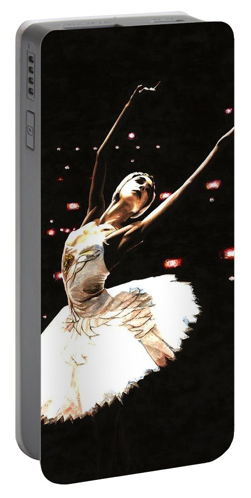 Prima Ballerina Portable Battery Charger featuring the painting Prima Ballerina by Richard Young