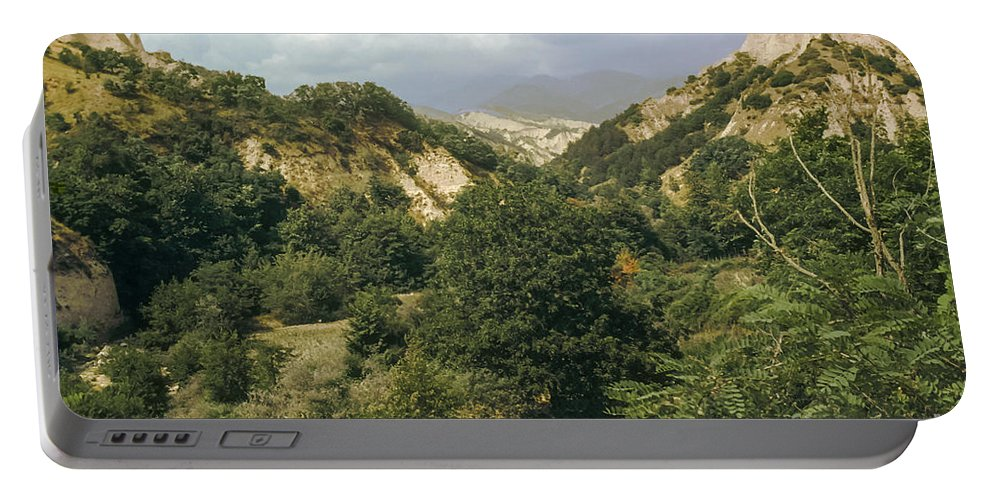 Prin Mountains Melnik Bulgaria Mountain Tree Trees Landscape Landscapes Peak Peaks Nature Portable Battery Charger featuring the photograph Prin Mountain View by Bob Phillips