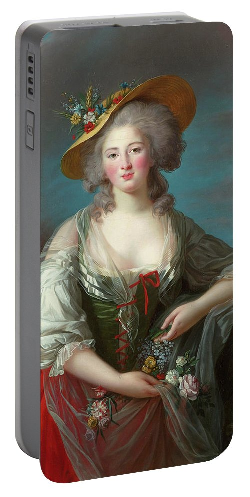 Baroque Portable Battery Charger featuring the painting Princess Elisabeth Of France by Elisabeth Vigee Le Brun