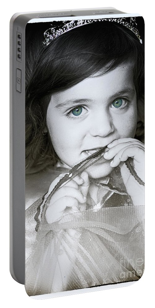 Girl Portable Battery Charger featuring the photograph Princess Xanthe by Toula Mavridou-Messer