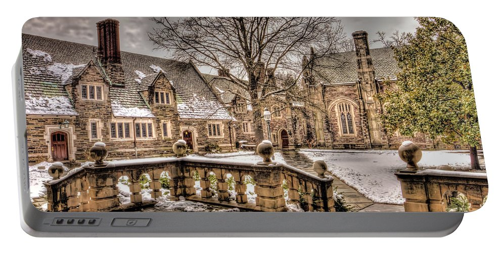 Current Portable Battery Charger featuring the photograph Snow / Winter Princeton University by Geraldine Scull