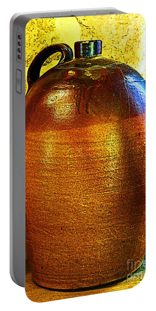 Prism Portable Battery Charger featuring the photograph Prism On Pottery by Steve C Heckman