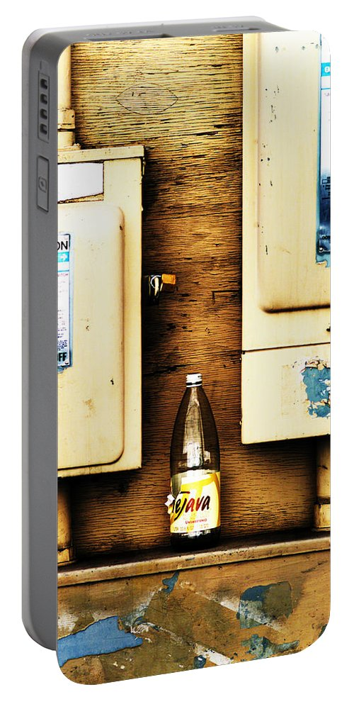 Bottle Portable Battery Charger featuring the photograph Product Placement by Scott Sawyer