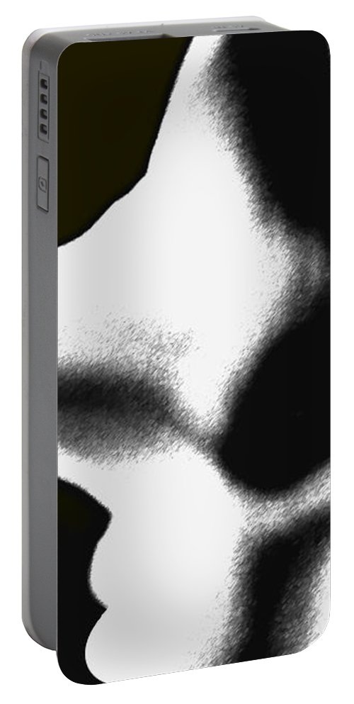 Abstract Portable Battery Charger featuring the photograph Profiles by Amanda Barcon