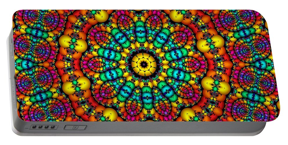 Colorful Portable Battery Charger featuring the digital art Progressive Thinking by Robert Orinski