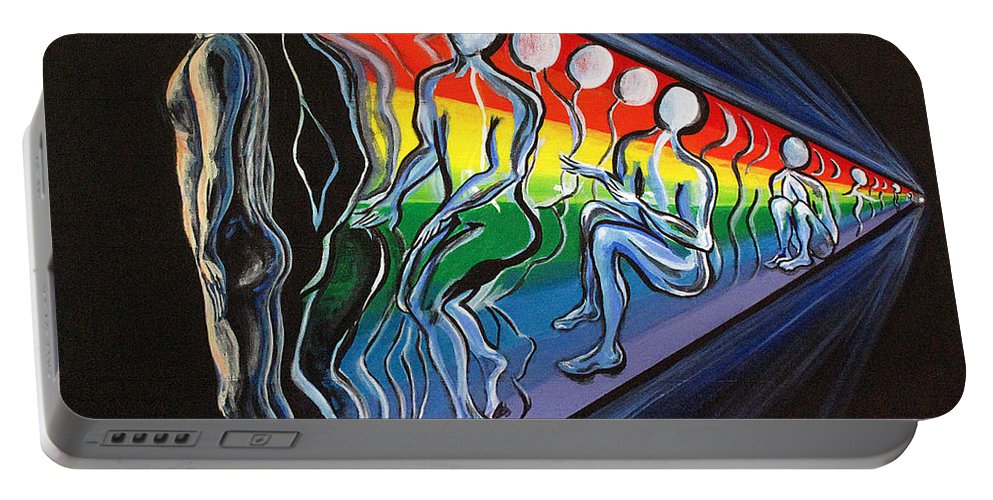Spiritual Portable Battery Charger featuring the painting Projection by Joyce Jackson