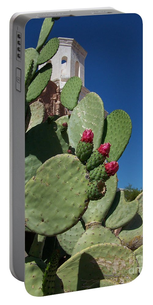Cactus Portable Battery Charger featuring the photograph Promesas Cumplidas by Kathy McClure