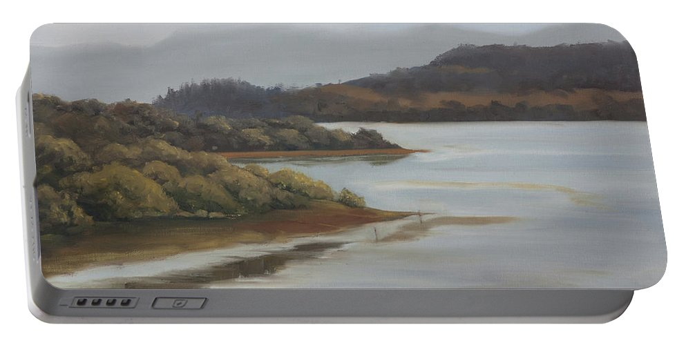 Promise Of A New Day Portable Battery Charger featuring the painting Promise of a new day by Mandar Marathe