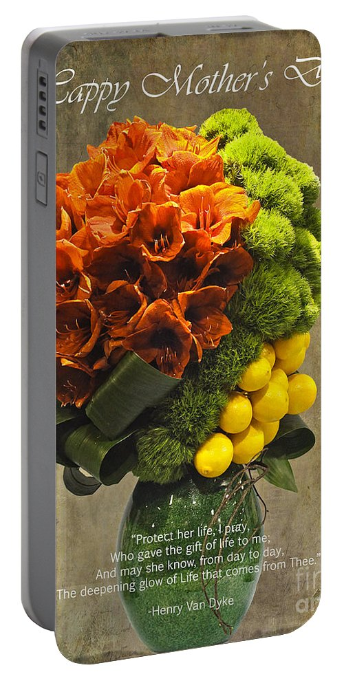 Henry Van Dyke Portable Battery Charger featuring the photograph Protect Her Life Happy Mother's Day Card by Nina Silver