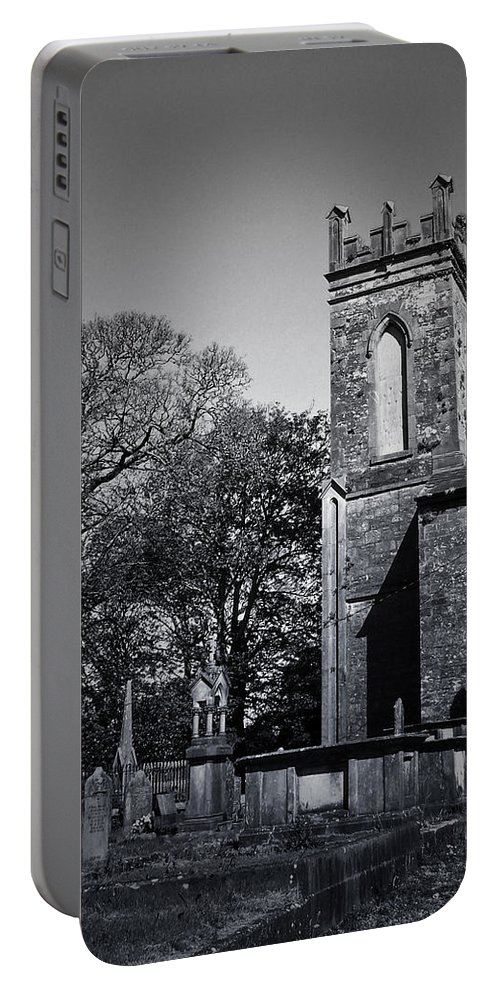 Irish Portable Battery Charger featuring the photograph Protestant Church Macroom Ireland by Teresa Mucha