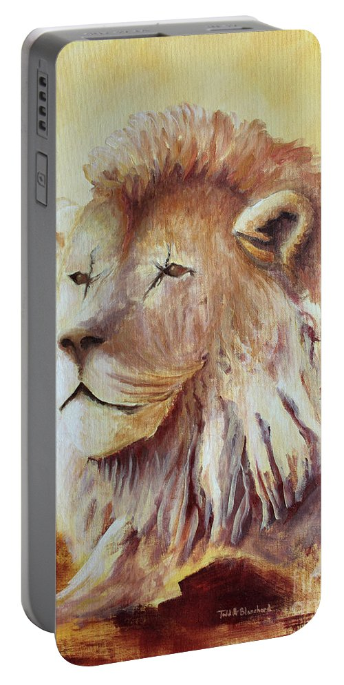 Animal Portable Battery Charger featuring the painting Proud by Todd Blanchard