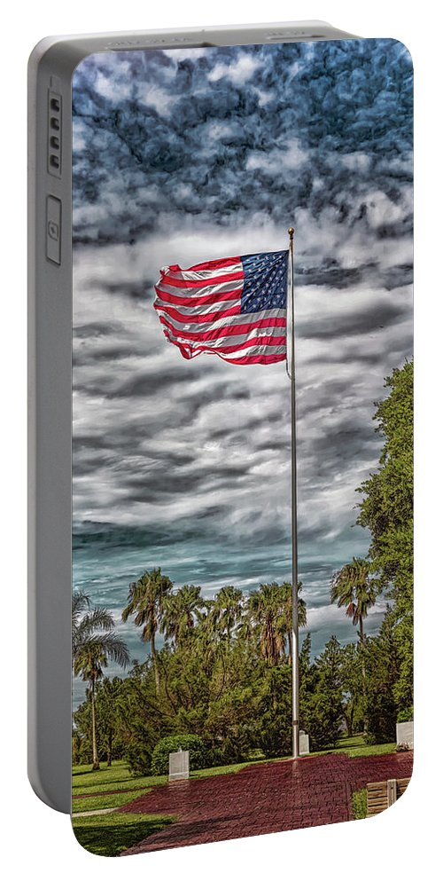 Landscape Portable Battery Charger featuring the photograph Proudly Waving by John M Bailey