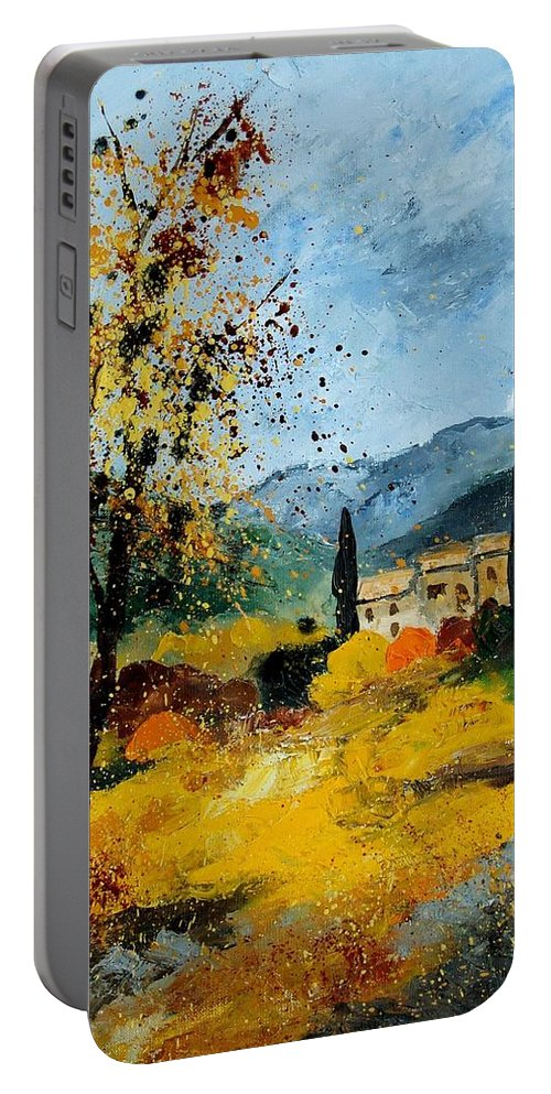 Provence Portable Battery Charger featuring the painting Provence 45 by Pol Ledent