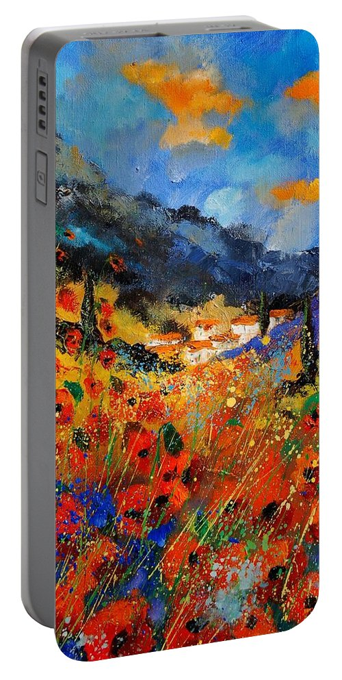 Portable Battery Charger featuring the painting Provence 459020 by Pol Ledent