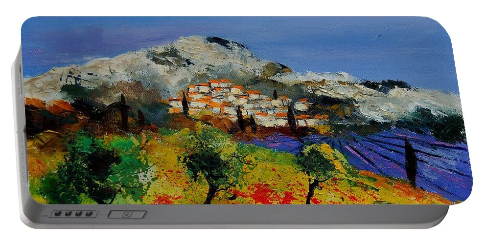 Provence Portable Battery Charger featuring the painting Provence 569010 by Pol Ledent