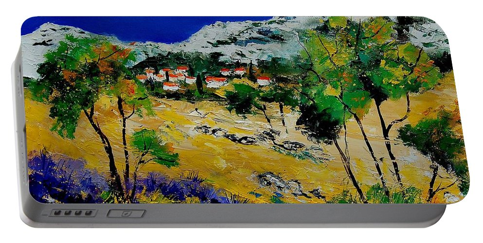 Provence Portable Battery Charger featuring the painting Provence 569060 by Pol Ledent
