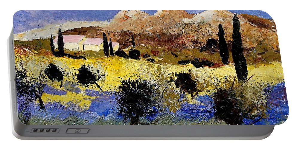 Provence Portable Battery Charger featuring the painting Provence 674525 by Pol Ledent