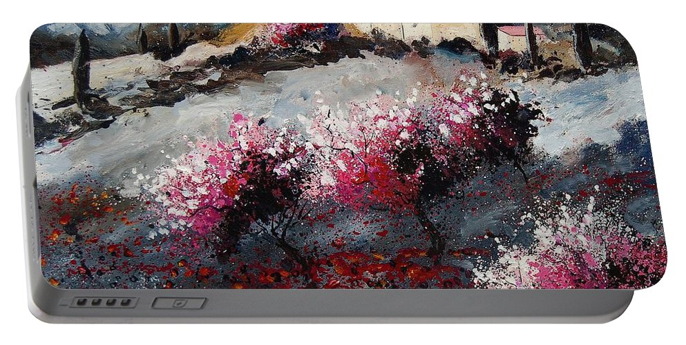 Provence Portable Battery Charger featuring the painting Provence 675458 by Pol Ledent