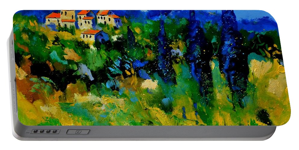 Landscape Portable Battery Charger featuring the painting Provence 768110 by Pol Ledent