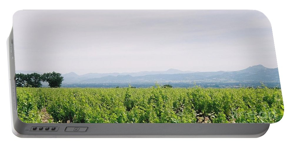 France Portable Battery Charger featuring the photograph Provence Spring Vineyard by Nadine Rippelmeyer