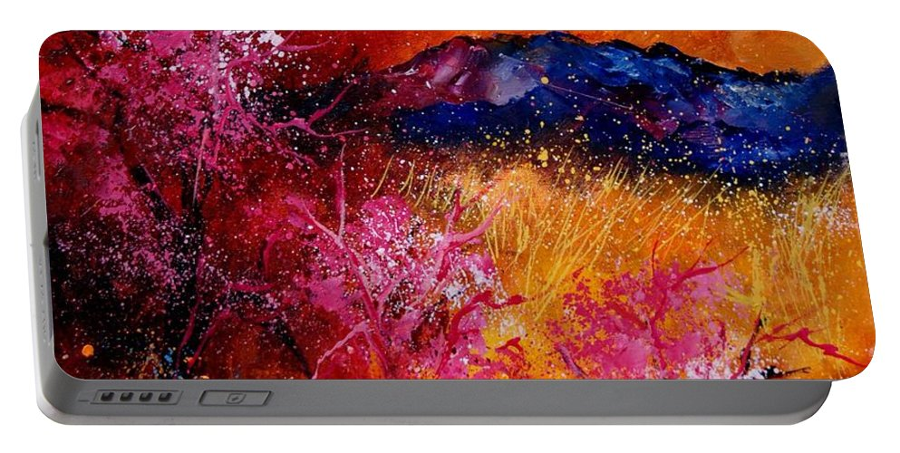Provence Portable Battery Charger featuring the painting Provence560908 by Pol Ledent