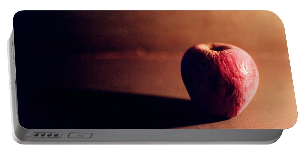 Shriveled Portable Battery Charger featuring the photograph Pruned Apple Still Life by Michelle Calkins