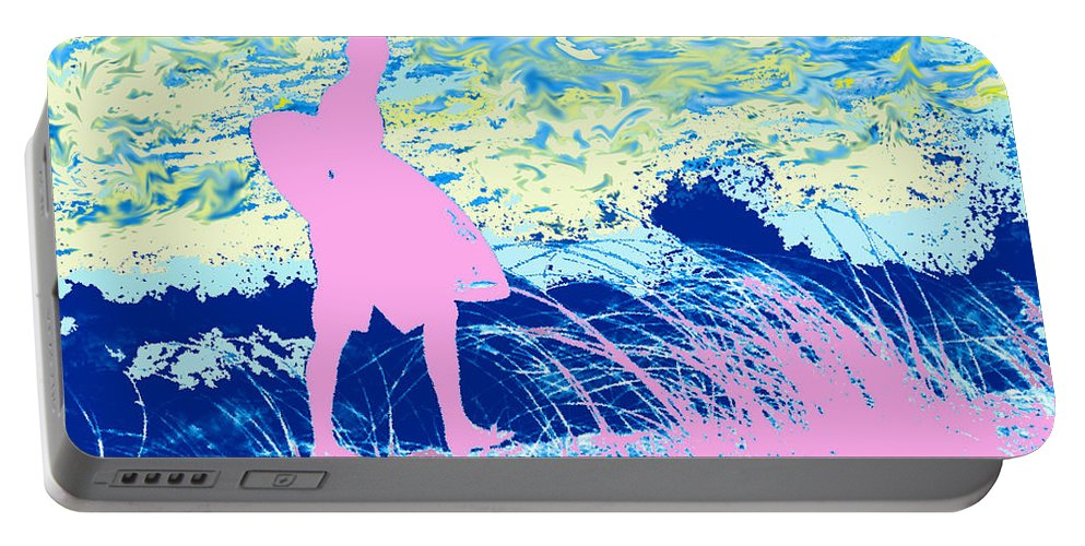 Florida Portable Battery Charger featuring the photograph Psychadelic Beach by Ian MacDonald