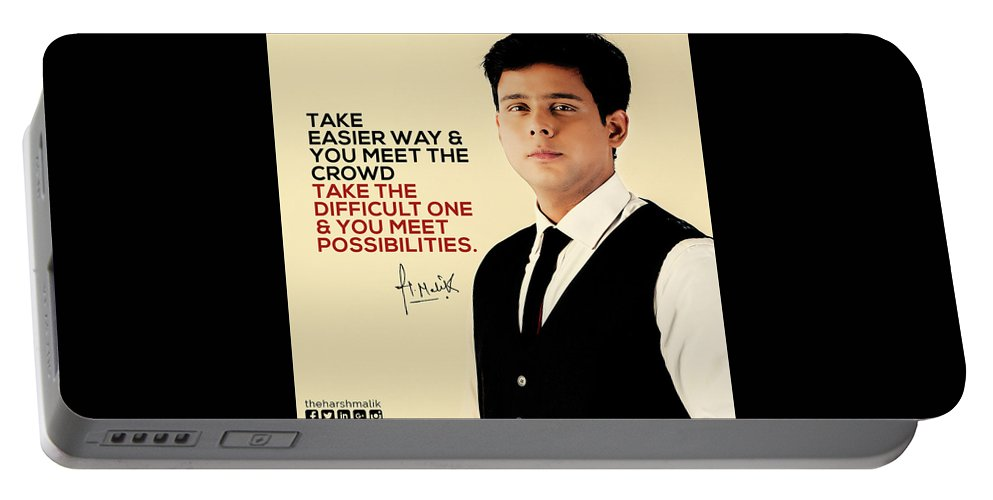 Harsh Malik Portable Battery Charger featuring the photograph Public Speaker In India by Harsh Malik
