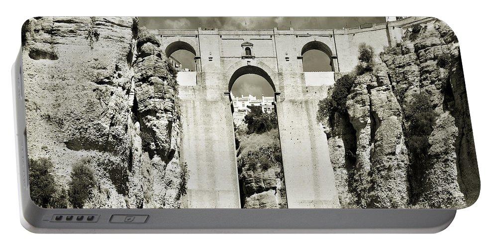 Bridge Portable Battery Charger featuring the photograph Puente Nuevo Tajo De Ronda Andalucia Spain Europe by Mal Bray