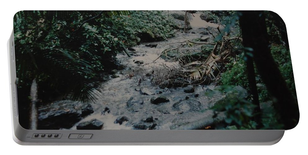Trees Portable Battery Charger featuring the photograph Puerto Rico Water by Rob Hans