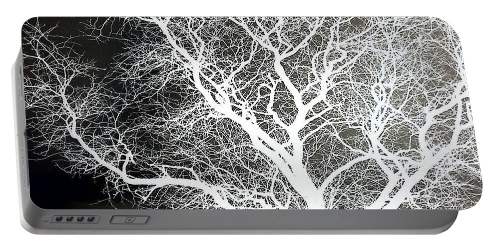Tree Portable Battery Charger featuring the photograph Pure Energy- Lightning Tree by Jacqueline McReynolds