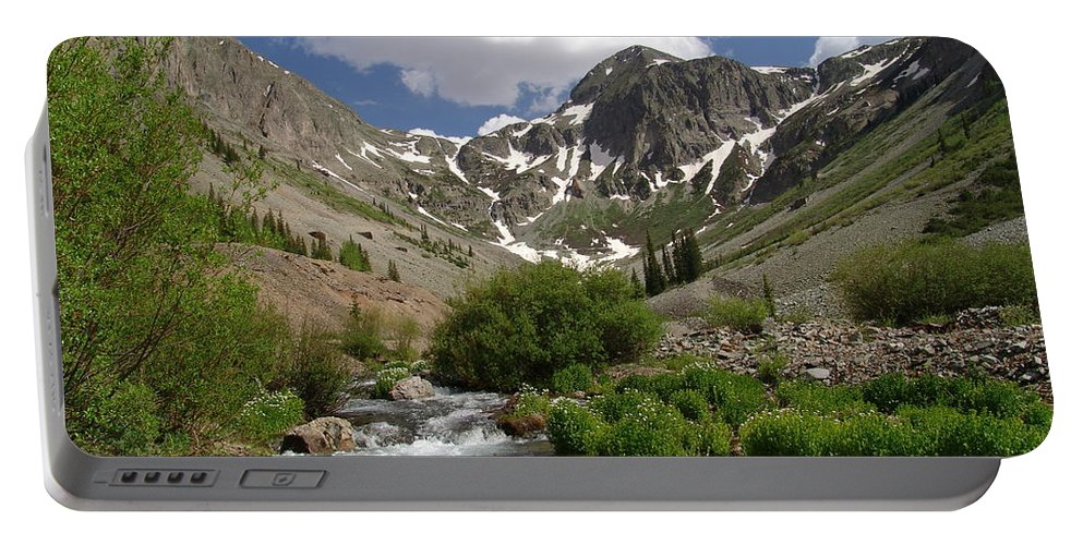Trees Portable Battery Charger featuring the photograph Pure Mountain Beauty by Carol Milisen