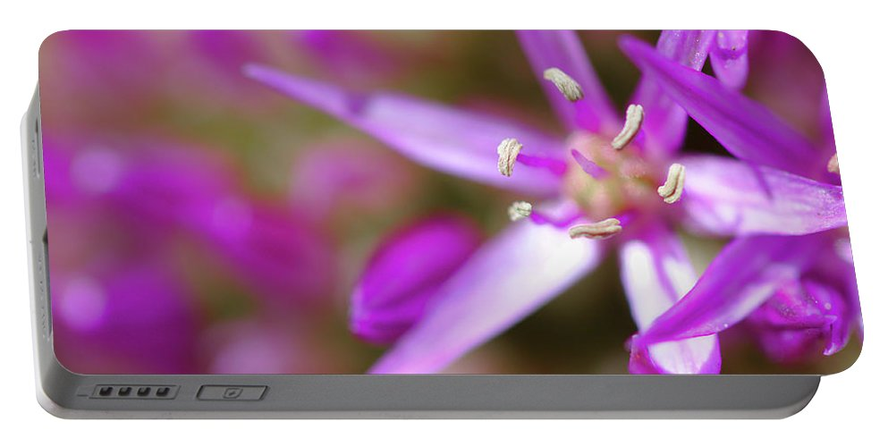 Flowers Portable Battery Charger featuring the photograph Purple Fragrance by Brady Lane