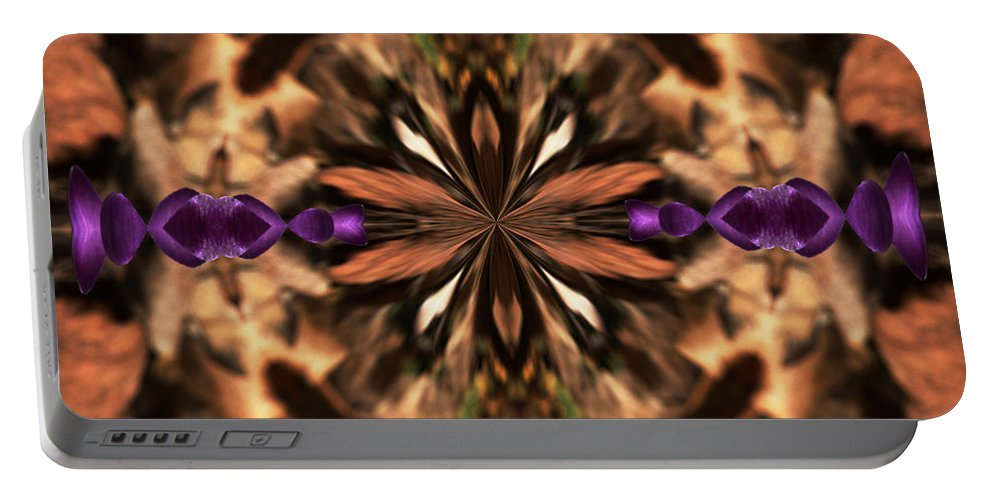 Design Portable Battery Charger featuring the photograph Purple Heart Design by Karol Livote