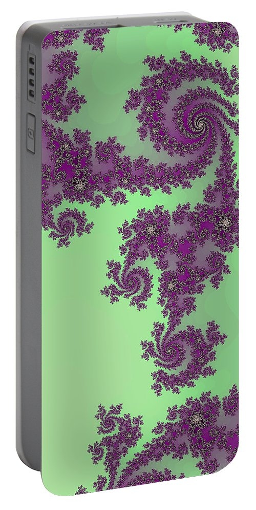 Purple Lace Portable Battery Charger featuring the digital art Purple Lace by Becky Herrera