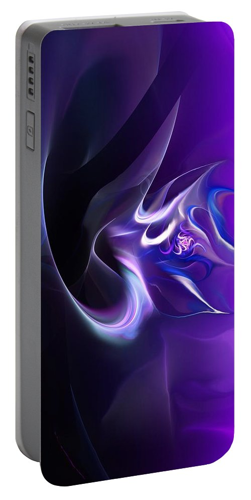 Fine Art Portable Battery Charger featuring the digital art Purple Love by David Lane