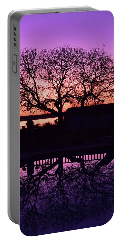 Purple Skies Portable Battery Charger featuring the photograph Purple Majesty by Brandy Stinchcomb