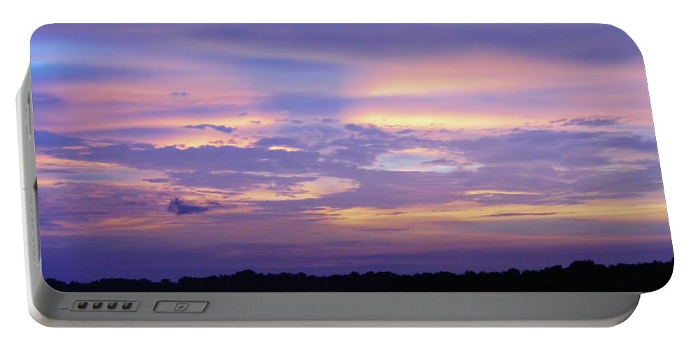 Sunrise Portable Battery Charger featuring the photograph Purple Morning by D Hackett