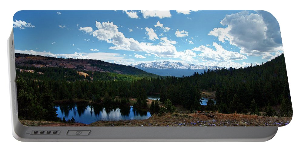 Landscape Photography Portable Battery Charger featuring the photograph Purple Pasques Pop by Jeremy Rhoades