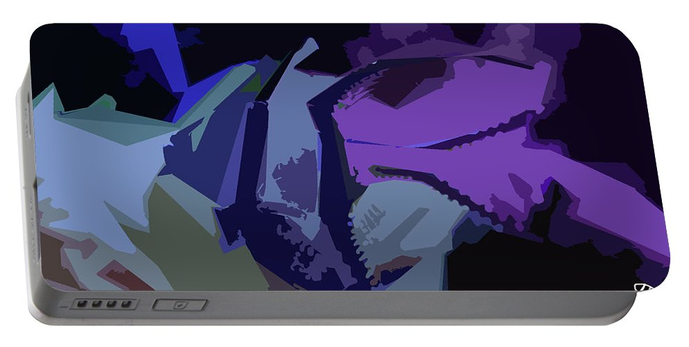 Purple Smash Portable Battery Charger featuring the digital art Purple Smash by Melissa Hutchings