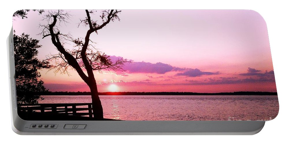 Landscape Portable Battery Charger featuring the photograph Purple Coastal Sunset by Sharon Eng